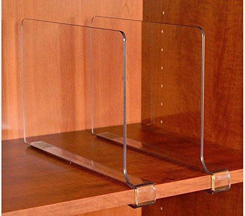 Try storageaid beautiful 2 pack kitchen acrylic shelf dividers unbreakable crystal clear closet shelves organizer separators perfect for kitchen closets and food pantry shelf divider