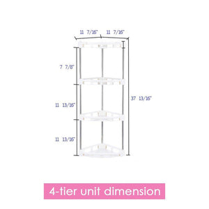 Featured 4 tier corner storage organizer shelf i best kitchen spice rack makeup cosmetics counter organizing stand bathroom organizer off white 4 tier