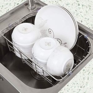 Select nice hy stainless steel sink drain dish rack retractable dish rack kitchen pool storage hanging dish rack sink rack