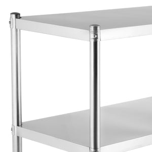 Budget happybuy stainless steel shelving units heavy duty 4 tier shelving units and storage shelf unit for kitchen commercial office garage storage 4 tier 400lb per shelf