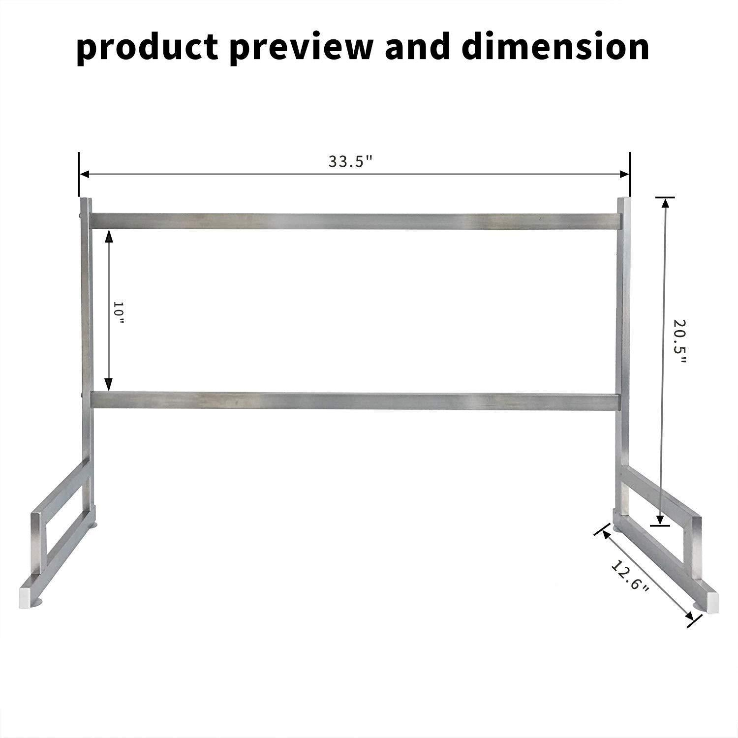 Online shopping over the sink dish drying rack dish drainer for kitchen sink stainless steel over the sink shelf storage rack sink length 32 5 inch