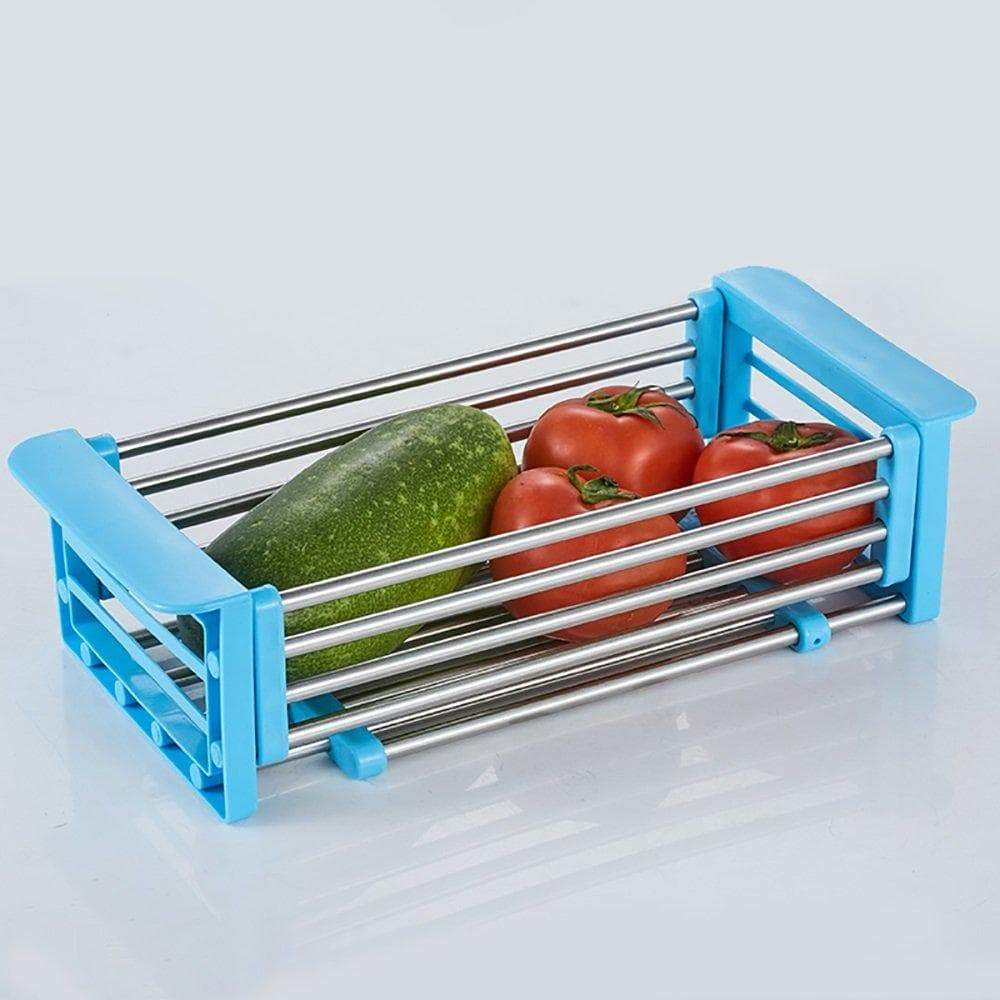 Order now yan junau kitchen racks stainless steel retractable sink drain rack dish rack kitchen supplies color blue