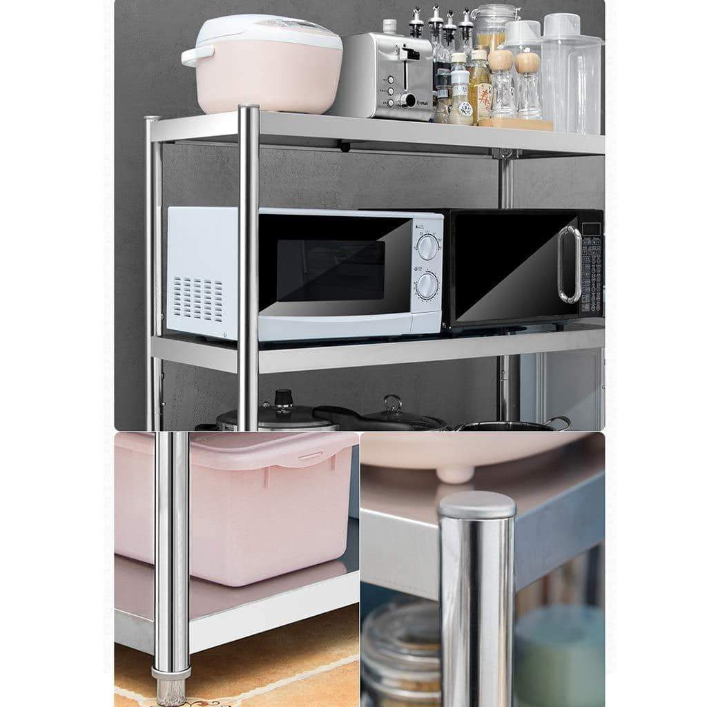 Discover the kitchen shelf stainless steel microwave oven rack multi function kitchen cabinet and cabinet rack storage rack 6 sizes kitchen storage racks size 10040118cm