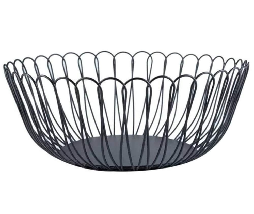 Amazon best creative wire fruit dish basket bowl modern large black decorative table centerpiece holder for kitchen counters living room 10 62 inch petals