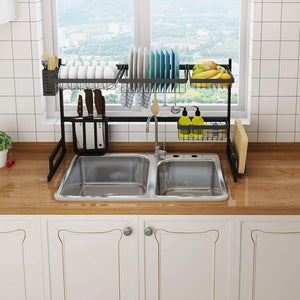 Order now beetla dish drying rack over sink stainless steel kitchen drainer shelf for kitchen supplies storage over sink bowl rack dish rack display shelf 33 5
