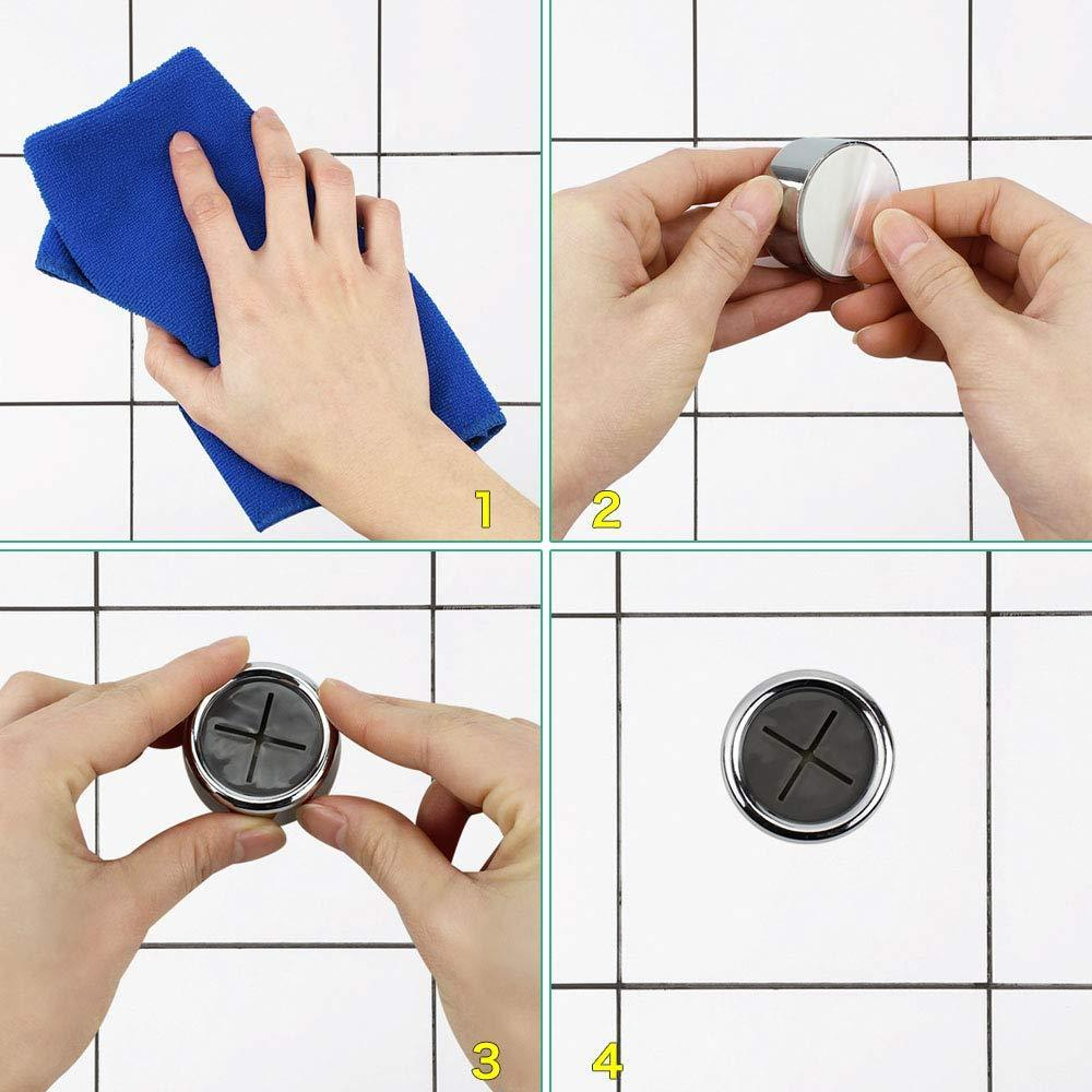 Buy now dreamtop 6 pack adhesive towel hooks round tea towel holder door wall mount hooks hanger for kitchen bathrooms and home
