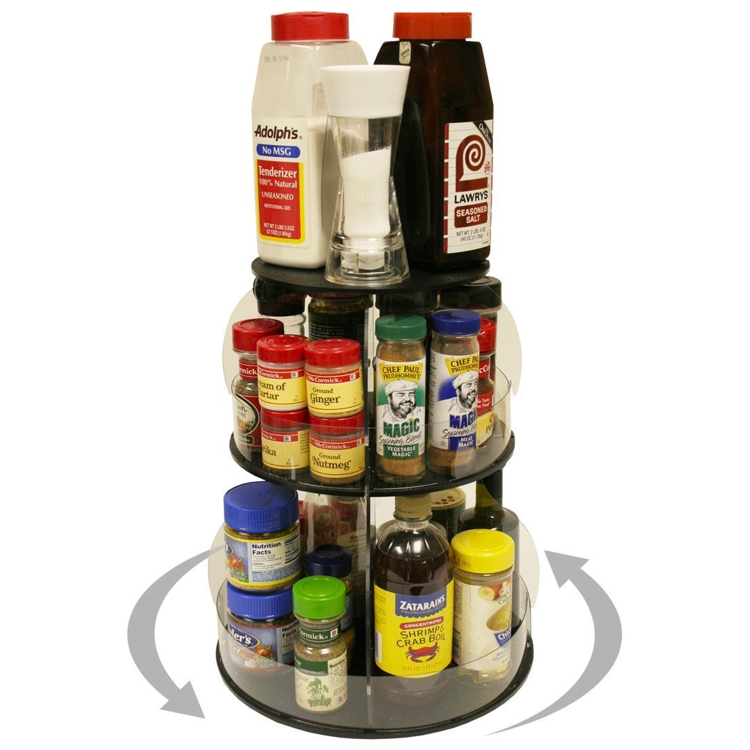 Amazon best kitchen organizer that spins for easy access only 12 of counter space all your used daily items at your fingertips bonus clear sides keep it in proudly made in the usa