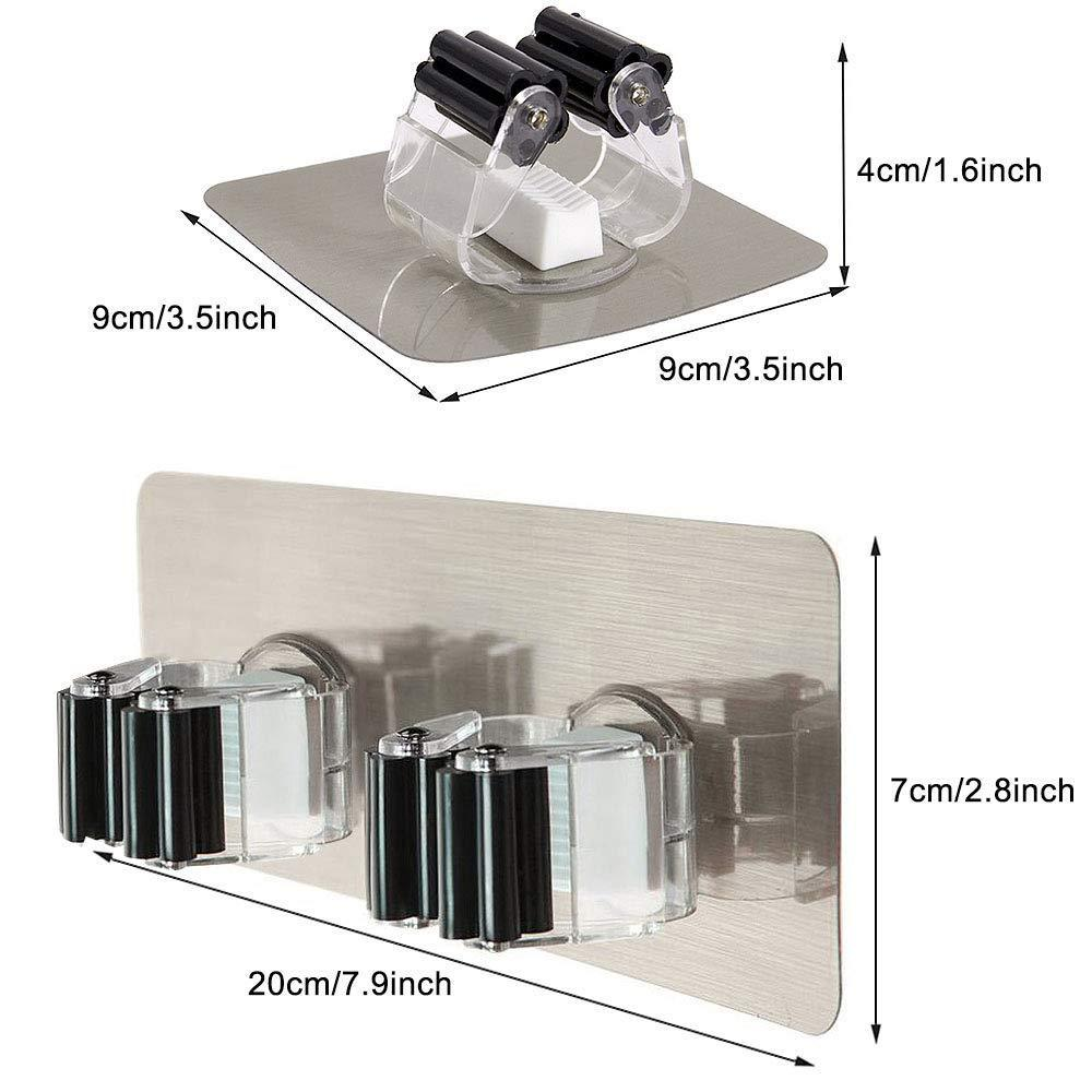 Discover yotako broom mop holder 8 pcs mop and broom hanger self adhesive wall mount storage rack storage and organization for your home kitchen and wardrobe