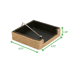 Storage organizer mind reader naprope brn rope flat storage organizer with pivoted arm counter top napkin holder kitchen brunch picnics brown one size