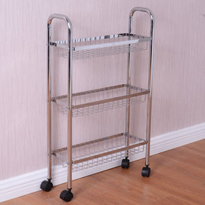 Save on giantex 3 tier metal storage rack baskets shelving home kitchen office garage w wheels