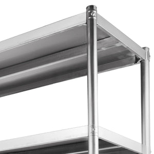 Amazon best happybuy stainless steel shelving units heavy duty 4 tier shelving units and storage shelf unit for kitchen commercial office garage storage 4 tier 400lb per shelf