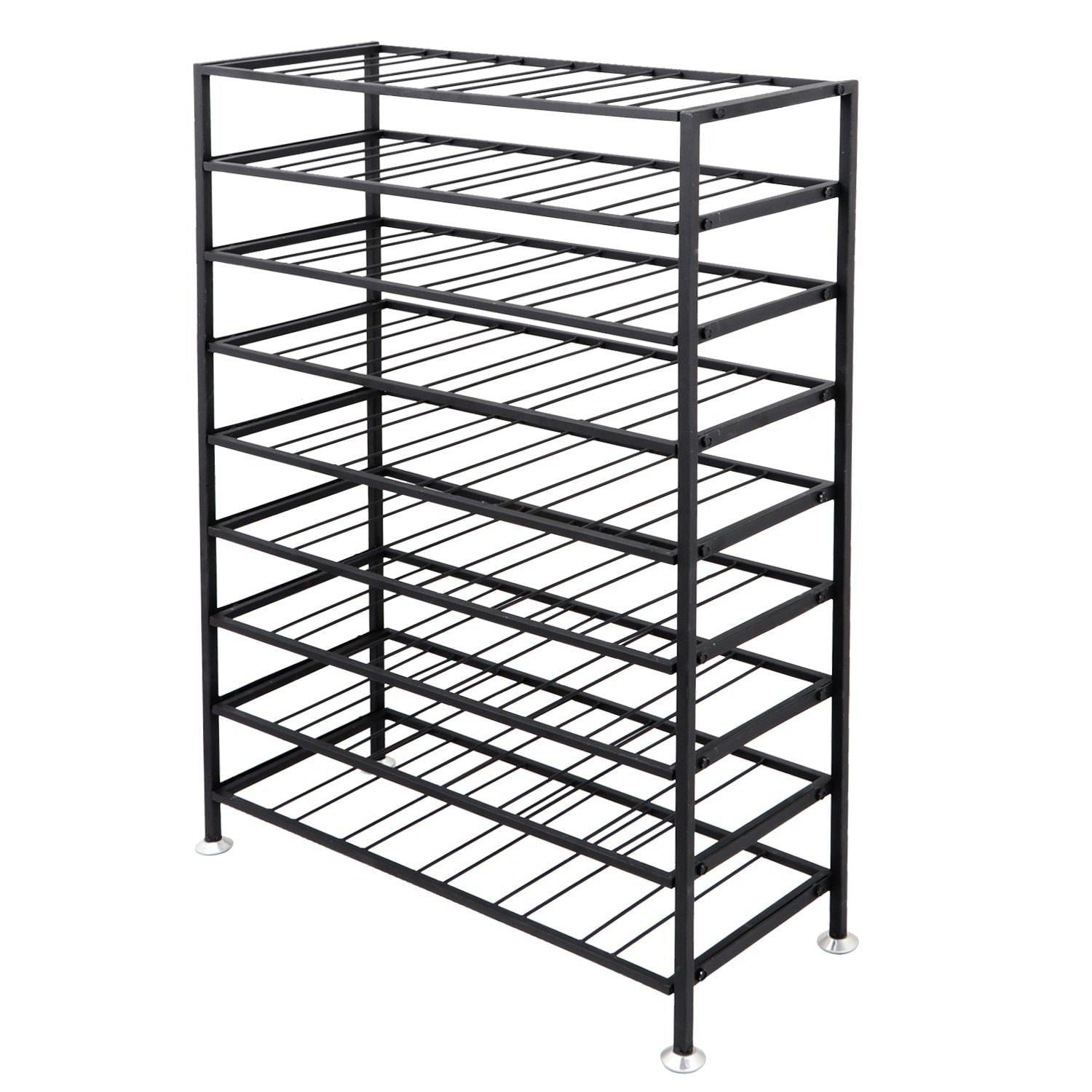 Save homgarden 54 bottle free standing deluxe large foldable metal wine rack cellar storage organizer shelves kitchen decor cabinet display stand holder