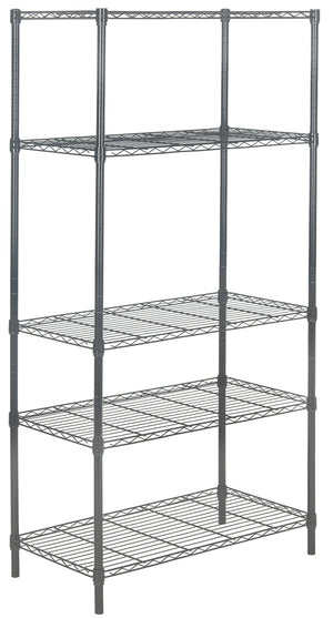 "happimess Julia 71"" 5-Tier Storage Rack, Dark Gray"