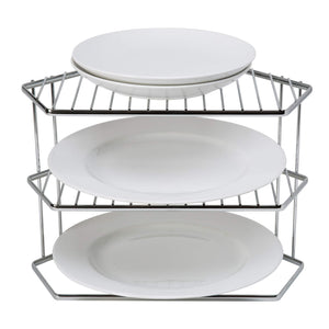Shop here kitchen details geode corner cabinet helper shelf space saver more shelving works for plates bowls dishes mugs glasses chrome