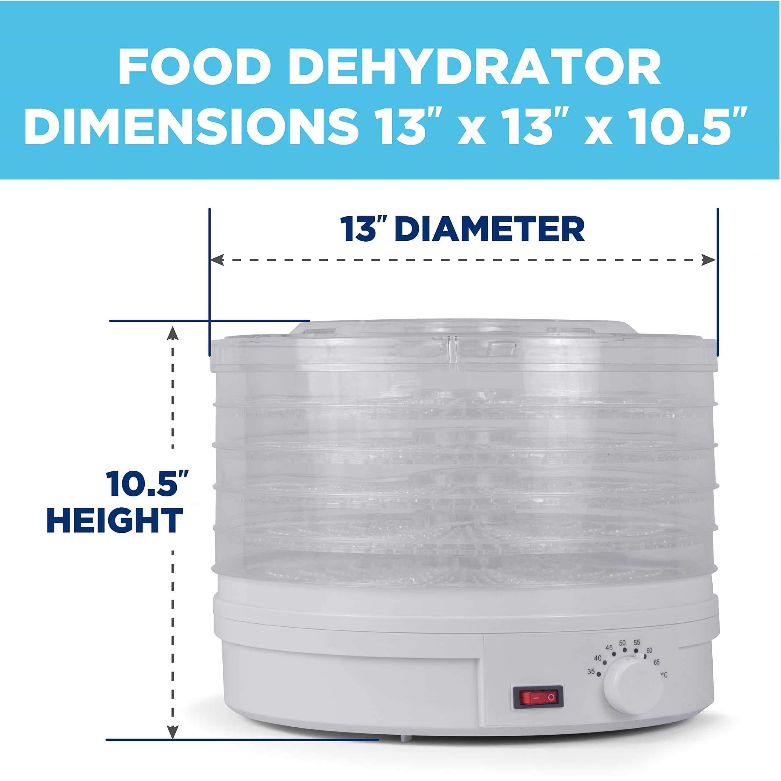 On amazon westinghouse food dehydrator beef jerky maker food preservation device food dehydration machine dried fruits and vegetables maker countertop small kitchen appliance wfd101w white