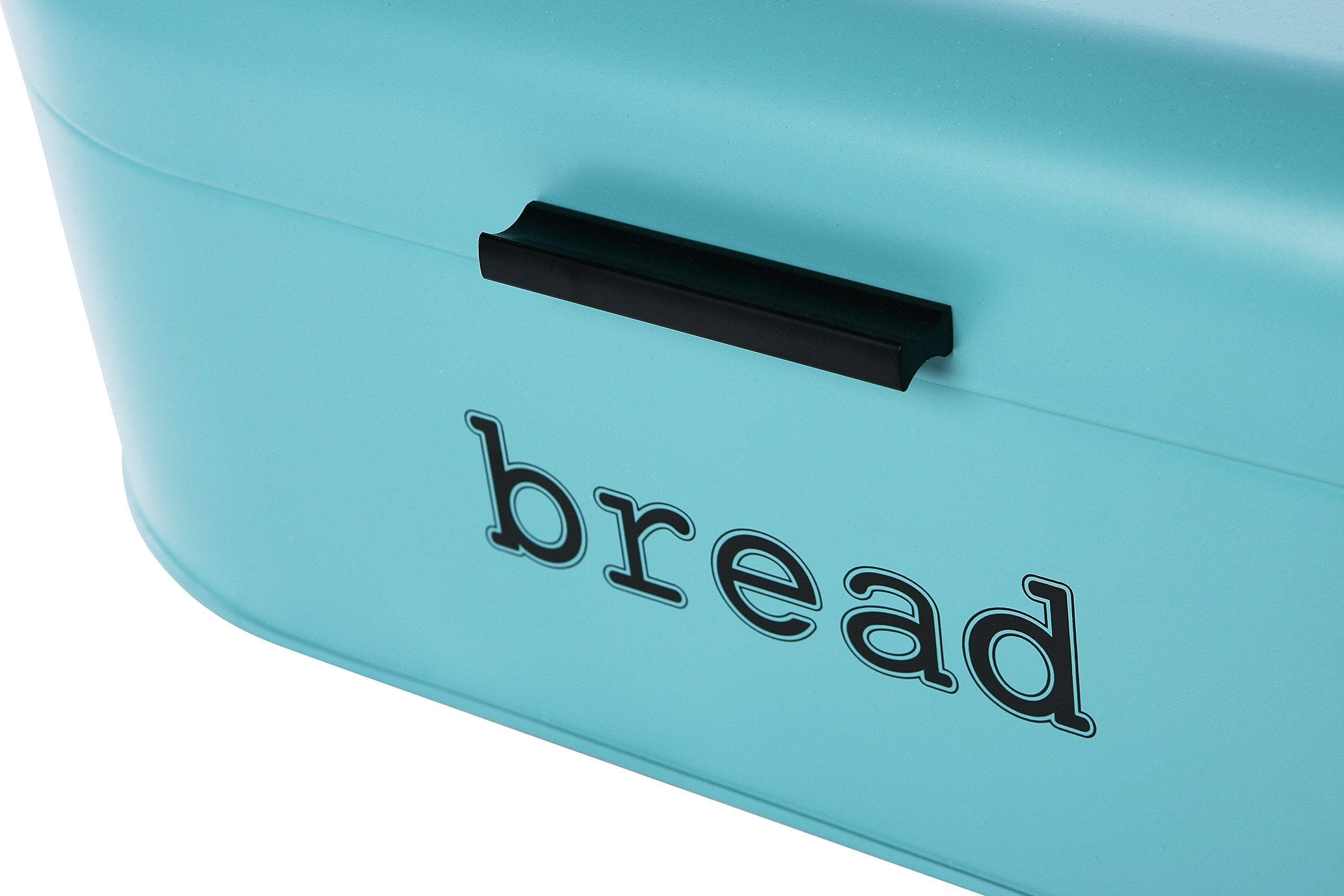 Online shopping large bread box for kitchen counter bread bin storage container with lid metal vintage retro design for loaves sliced bread pastries teal 17 x 9 x 6 inches