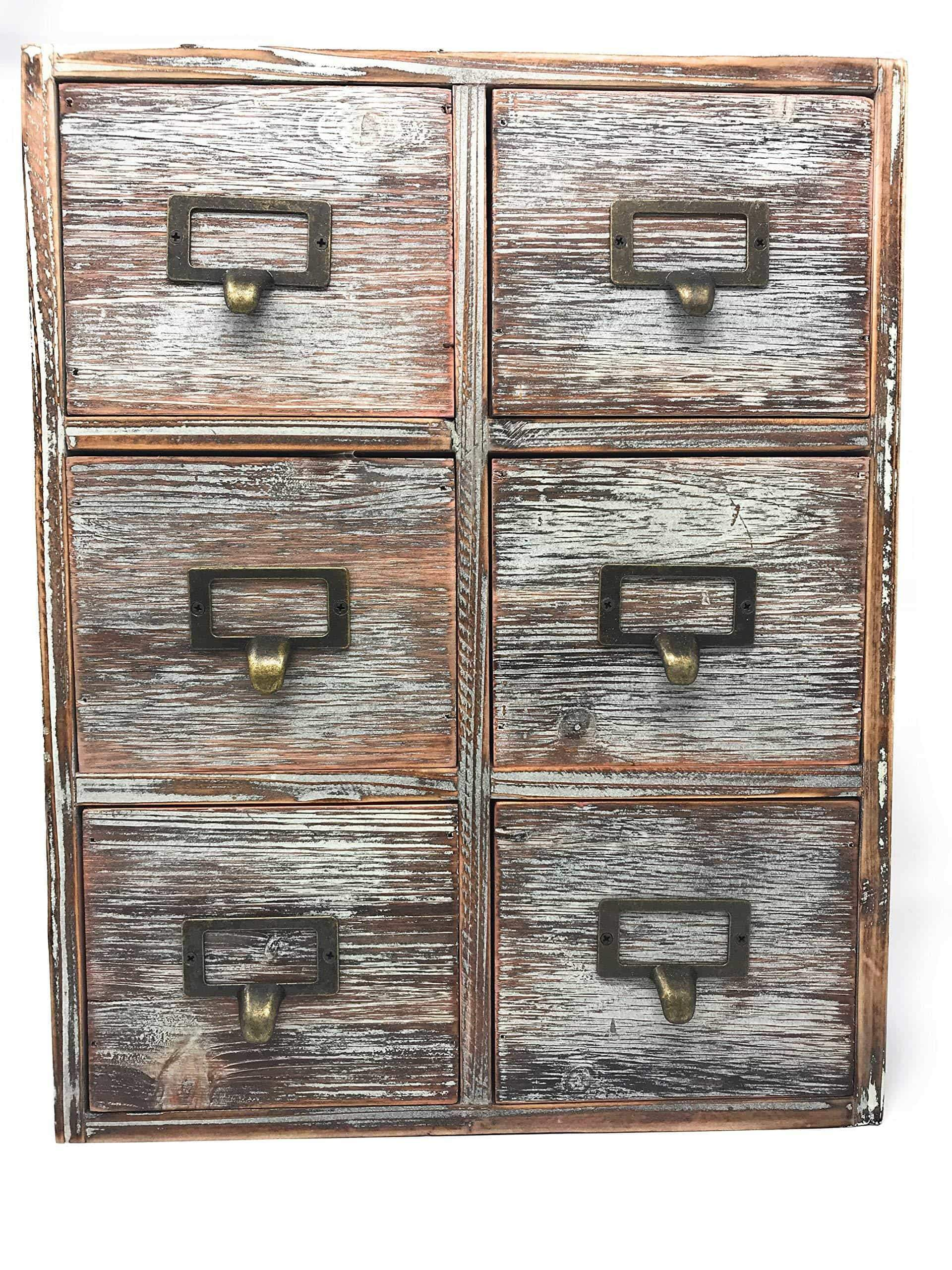 The best farmhouse decor desk organizer storage cabinet bathroom home shelves kitchen living room bedroom furniture apothecary drawers rustic wood distressed finish