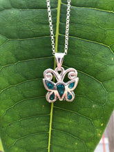 Load image into Gallery viewer, Butterfly Pendants 925 Silver — Chrysocolla Eilat