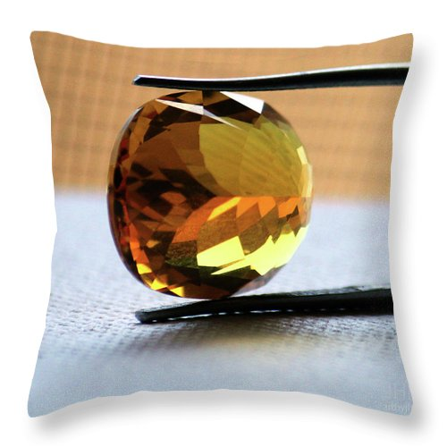 Citrine Reflections  - Throw Pillow