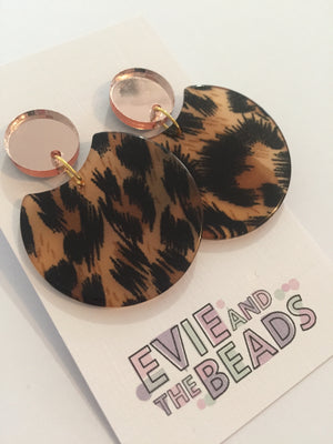 Rose Gold Leopard Dangles