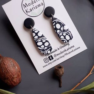 Monochrome Drop Dangle Earrings