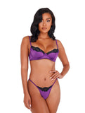 LI394 - 2pc Lace & Satin Underwire Bra Set
