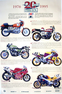 AMA 20 Years of Superbike Racing - 1976-1995 - Poster