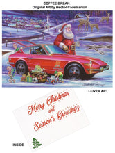 "Load image into Gallery viewer, Datsun Christmas Card- ""Coffee Break"""