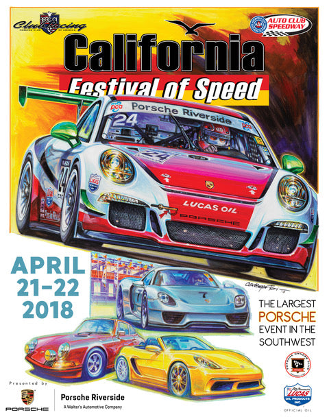 2018 Porsche California Festival of Speed-Fontana -Poster
