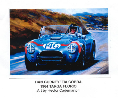 Dan Gurney-Cobra at the Targa Florio