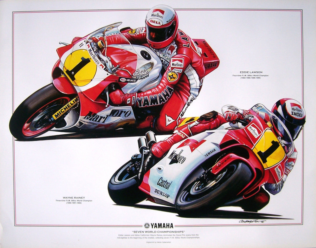 Eddie Lawson and Wayne Rainey Poster