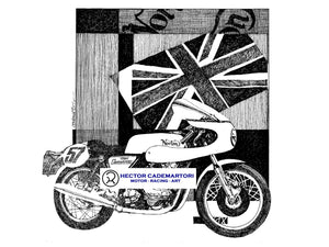 Cycle World - Norton Commando - Original Art