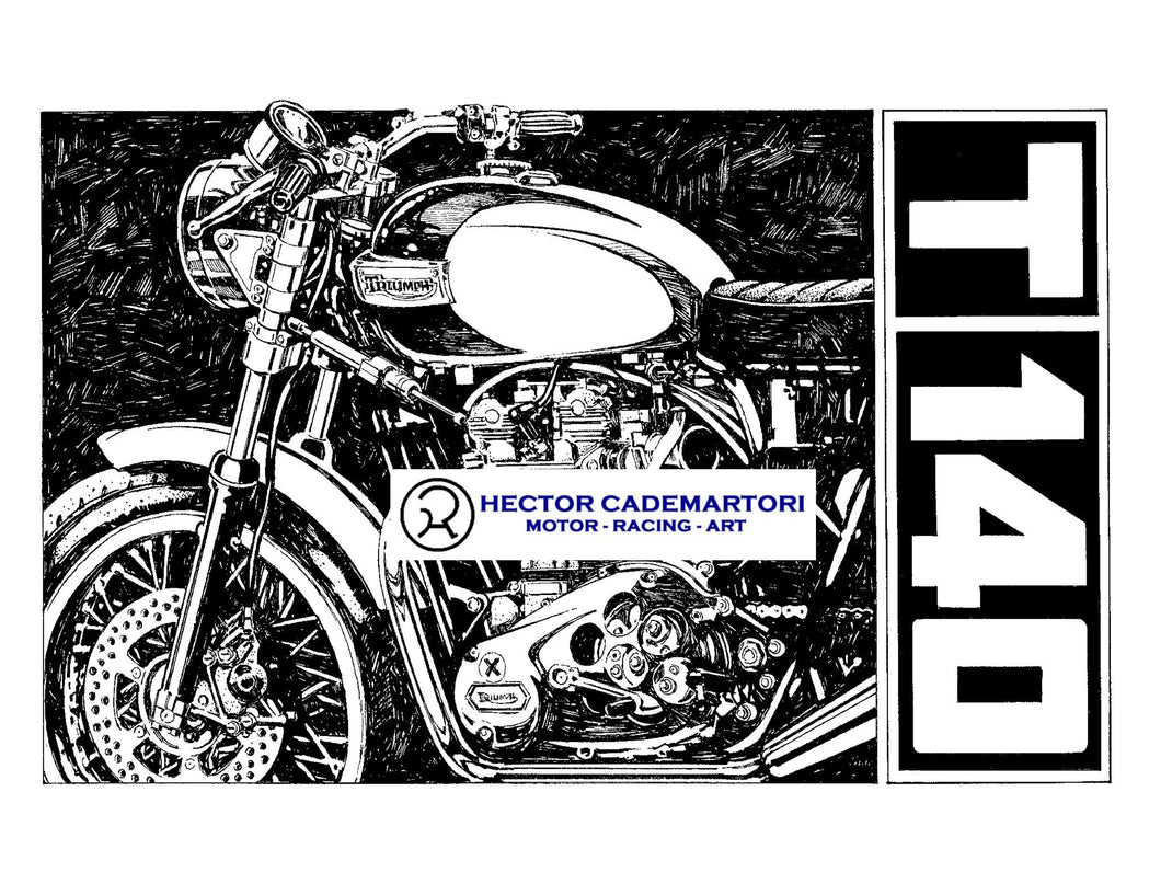 Cycle World - Triumph T140 - Original Art