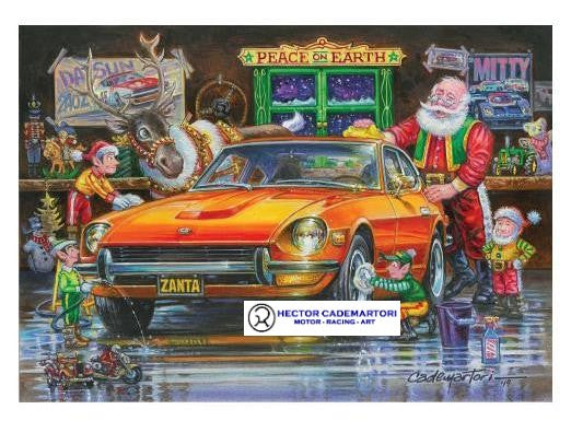 Datsun Christmas Card-