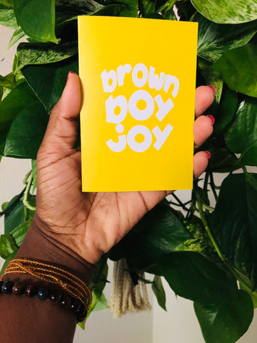 Brown Boy Joy Card (Blank Inside)