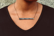 Cow Horn Bar Necklace