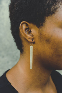 Cow Horn Bar Earrings