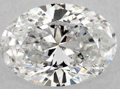 1.06 carats Oval White E Diamond