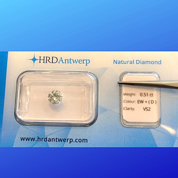 0.51 Round White Diamond Perfect White