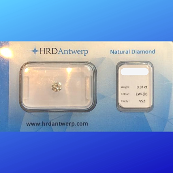 0.31ct Round Perfect White Diamond