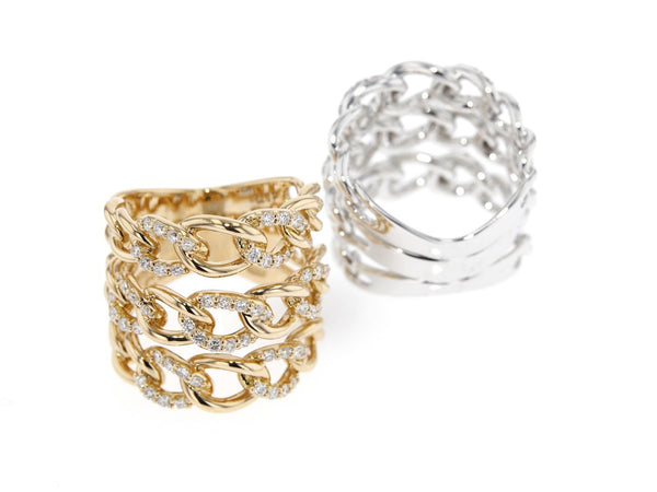 18 ct gold ring set with white diamonds