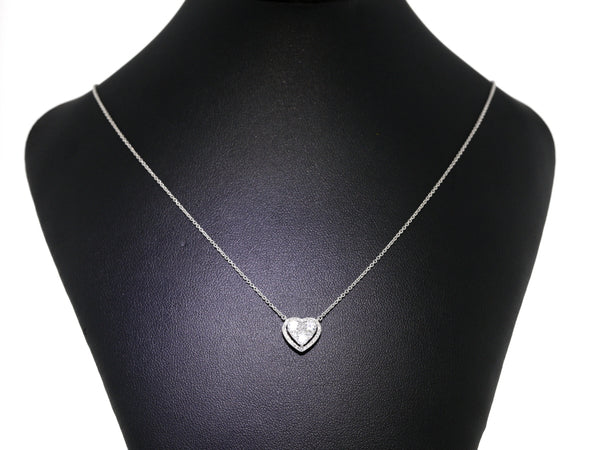 18 ct White gold Necklace set with white Diamonds