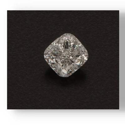 3.21ct Cushion White Diamond