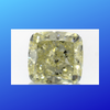 2.01 carats Fancy Light Yellow Cushion Diamond