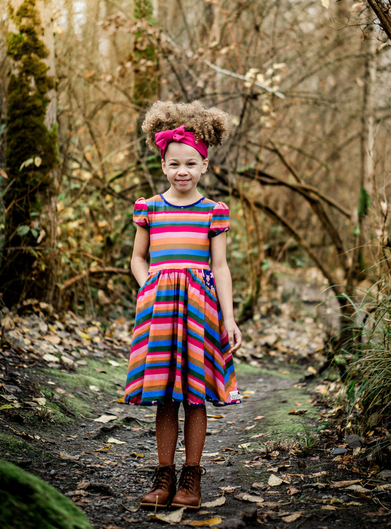 Copy of Retro Rainbow dress