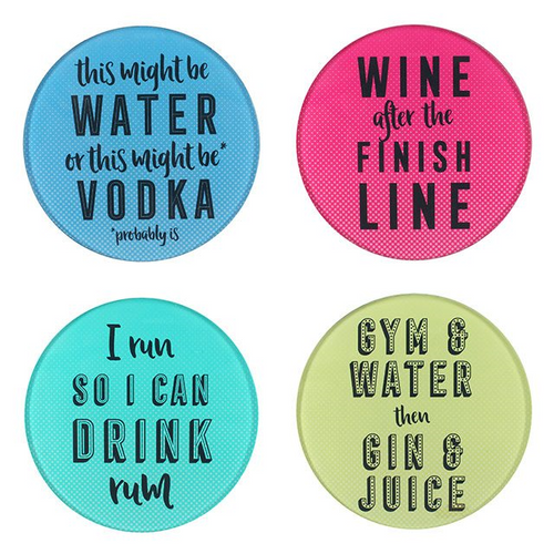 Drink Slogan Humour Coasters Set Of 4 - Its Good To Be Home