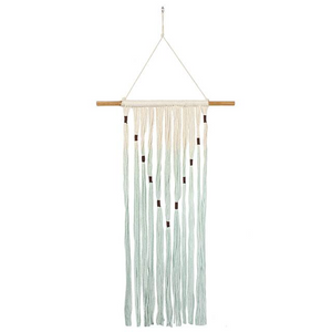 Bohemian Green and Cream Wall Hanging - Its Good To Be Home