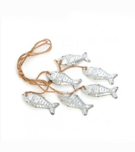 Silver Hanging Fish Bunting - Its Good To Be Home