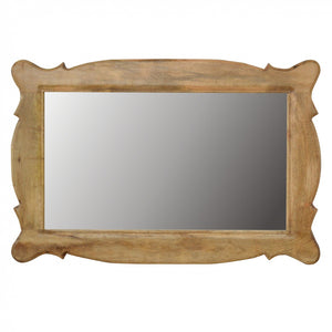 Hand Carved Oblong Wall Mirror - Its Good To Be Home