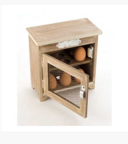 Wooden Egg Cupboard With Mesh Door - Its Good To Be Home
